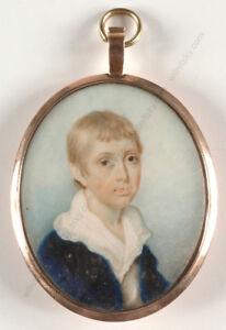 """Portrait of a boy"", high qualitaty English miniature!!, ca. 1800"