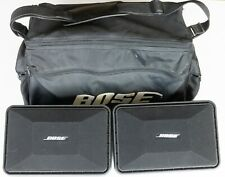 Pair Bose Roommate Powered Stereo Speakers + Carry Case + Manual CLEAN TESTED