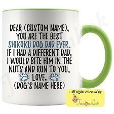 Personalized Shikoku Dog Dad Coffee Mug, Kochi-ken Owner Men Gift