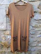 Robe Marie Sixtine camel poches motif léopard NEUVE Taille L