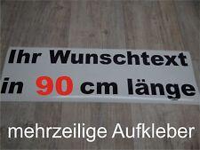 Wunschtext Aufkleber Auto Domain Beschriftung Schriftzug 90cm mehrzeilig !