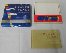 Tibetan Buddhist Set of 15 Prayer Flags and Book w/ Box  by Diane Barker