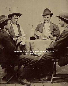 8x10 1877 Billy the Kid PHOTO Rare Discovery Playing Cards Saloon William Bonney