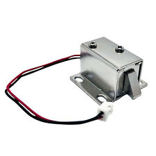 12V DC Door Drawer Tongue Upward Electric Lock Assembly Solenoid Slim Lock