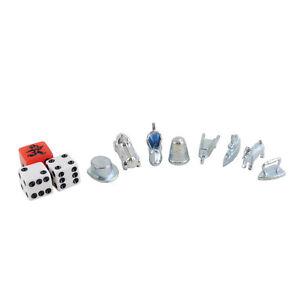 Monopoly Stadtedition Figuren und Würfel silber mit Tempowürfel Ersatzteile