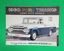 1960 Ford Trucks Sales Brochure - Light Duty Models F-100 F-250 F-350