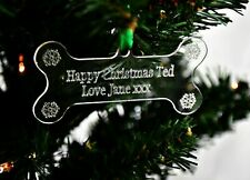 Personalised Christmas Tree Decoration Dogs First Christmas Tree Bauble