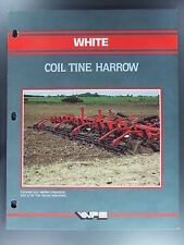 White Tractor Coil Tine Harrow Dealers Brochure Flyer Farming