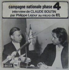 Campagne Nationale Phase 4  Decca 1971 45 tours Claude Boutin RTL