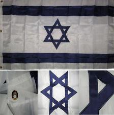4x6 Embroidered Sewn Israel Jewish Star 300D Nylon Flag 4'x6'