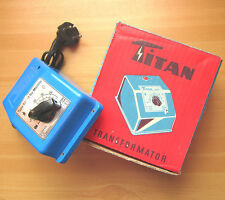 Vintage TITAN Trafo Type 827 M für Märklin Modellbahnen Transformator Regler OVP