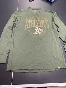 Oakland Athletics A's 47 Forward Brand Logo Long Sleeve T-shirt Adult Medium