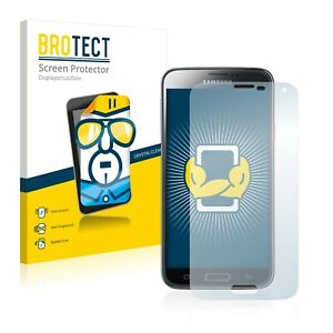 2x Film Protection pour Samsung Galaxy S5 Duos LTE SM-G900FD Transparent