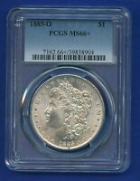 1885 O PCGS MS66+ Morgan Silver Dollar $1 US Mint 1885-O MS-66+ PQ Coin WOW !