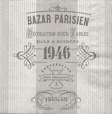 2 Serviettes en papier Boutique Bazar Parisien Paper Napkins