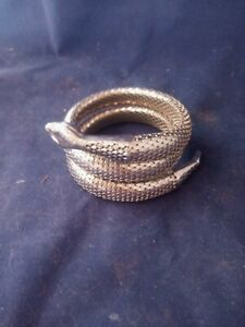 Silver Snake Arm Cuff/ Bracelet Cleopatra COSTUME Cosplay 1960's