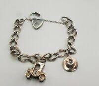 Vintage Sterling Silver Hallmarked Charm Bracelet