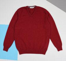 Men's Clan Douglas Wool Sweater V-neck Red (size M-L*)