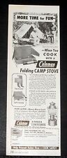 1948 OLD MAGAZINE PRINT AD, COLEMAN CAMP STOVE & LANTERN, MORE TIME FOR FUN!