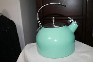 Kate Spade ,  New  York Lenox , Aqua Blue  2.5 Quart Tea Kettle