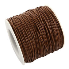 1 Roll SaddleBrown Waxed Cotton Thread Cords Jewelry Wire 1mm about 100yard/roll