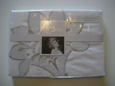 KYLIE AT HOME AUDREY WHITE PAIR OF PILLOWCASES BNIP