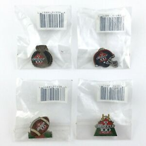 Lot of 4 Canada CFL 2012 Grey Cup Football Pins Enamel Lapel Sealed JFSC T645