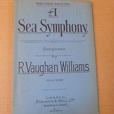 vocal score R.V. WILLIAMS A Sea Synphony rev. edition