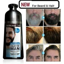 Black Beard Permanent Hair Dye Shampoo Color Cover White Gray Free Ammonia 200ML