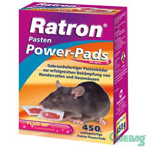Rattenköder Rattengift Mäuseköder Mäusegift Ratron Pasten Power-Pads 29 ppm 450g