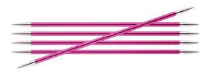 KnitPro ZING Nadelspiel Aluminium bunt beschichtet | 15cm oder 20cm zur Auswahl