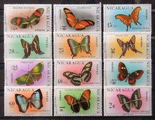 {389} Nicaragua 1967. Scott # C606-C617. Butterflies. MNH