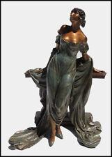 Louis Icart Rare Werther Bronze Sculpture Deco Artwork Rosenbaum Female Etching