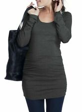 Ingrid & Isabel Black Maternity Layering Scoop Neck Blouse Size S USA
