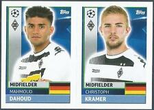 TOPPS CHAMPIONS LEAGUE-2016-17- #QFA09-10-B MONCHENGLADBACH-C KRAMER / M DAHOUD