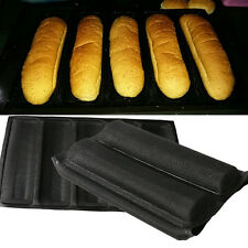Silicone 5 Loaves Subway Bread Form Loaf Toast Cake Pan Baking Non Stick Mold