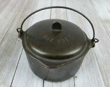 Vintage Mini Wagner Ware Sidney Pot With Lid Cast Iron Hot Pot . SALESMAN SAMPLE