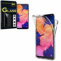 """Coque Silicone Gel protection 360° + Verre Trempé Samsung Galaxy A10 6.2"""" A105F"""