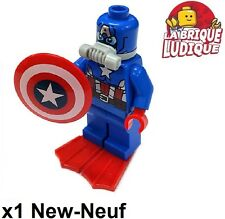 Lego - Figura Minifig Super Heroes Scuba Capitán América SH214 76048 NUEVO