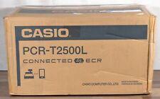Casio PCR-T2500-BK Electronic Cash Register 10-Line Display Bluetooth w/ Drawer