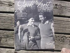 VINTAGE JACK FROST 1947 SWEATERS Gloves scrafs VOLUME 45 KNITTING PATTERN BOOK