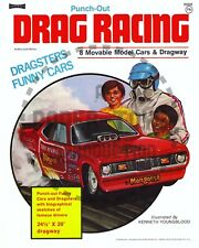Vintage Reprint - 1974 - Drag Racing Punch-Out Book - Reproduction