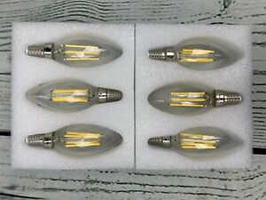 E12 Candelabra LED Bulbs Dimmable 4000K Daylight 6W Type B Light Bulb