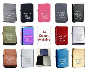 Worlds Best Uncle 83 Personalised Engraved Star Lighter In Gift Tin