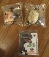 Jurassic World Camp Cretaceous #4 #6 & #7 McDonald's Happy Meal Toys Dinosaurs