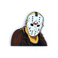 Jason Voorhees Leather Coat Pin Friday the 13th Collectible Horror Movie Pin