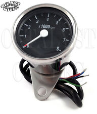 Chrome Tachometer for all dual fire ignitions Motorcycle Tach Universal Fit