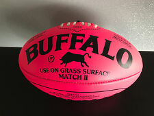 Brand New Buffalo Soft Touch Pvc Full Size 28cm Fluro Pink Aussie Rules Football