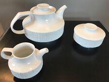 Thomas Rosenthal Arcta White Bisque - Richard Scharrer Tea Pot Creamer Sugar Set