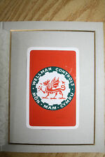 PLAYING CARDS UNIQUE Waddingtons ARTISTS PROOF  Wellman, Smith Owen dragon wales
